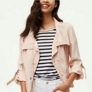 LOFT Blush Pink Utility Button Down Jacket Sz L
